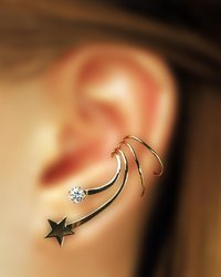 Star Zirconia Long Sterling Silver