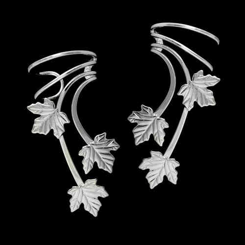 Three Maple Leaves Sterling Silver