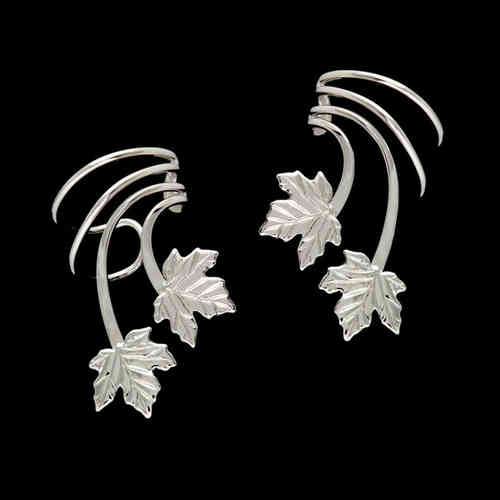 Two Maple Leaves Sterling Silver