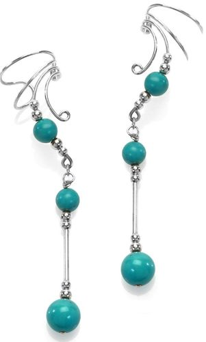 Ear Charm Sterling Silver & Turquoise
