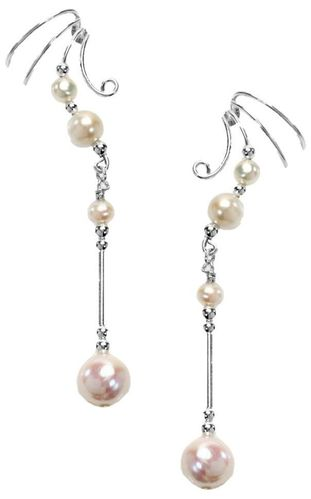 Ear Charm Sterling Silver & Cultured Pearl